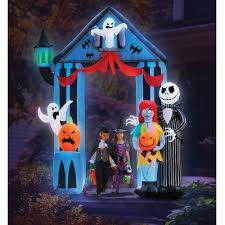 9 u0027 inflatable nightmare before christmas portal hammacher
