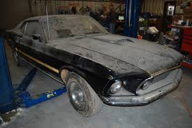 cobra mustang pictures found cobra jet mustang in basement for 28 years rod