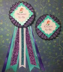 baby shower ribbon mermaid baby shower baby shower corsage baby shower pin