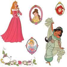 disney princess stickers royal portraits wall decals obedding com disney princess portraits wall stickers