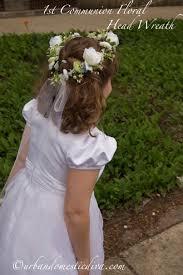 communion headpiece crafts make a communion flower wreath headpiece