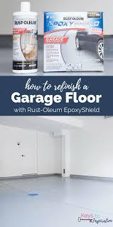 Rustoleum Epoxy Basement Floor Paint by How To Refinish A Garage Floor With Rust Oleum Epoxyshield Rust