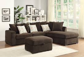 Small Brown Sectional Sofa Coaster Contemporary Reversible Sectional With Chaise