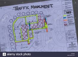 construction site plan traffic management site plan for redrow homes development