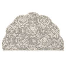 Gray Accent Rug Zoe Gray U0026 Cream Scalloped Accent Rug At Home At Home