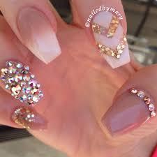 imagenes de uñas acrilicas con pedreria uñas nude con pedrería nails pinterest uñas nude pedreria y