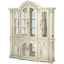 aico monte carlo ii china cabinet in silver pearl finish for