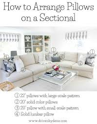 Sofa And Sectional Pillows 101 How To Choose Arrange Throw Pillows Pillows