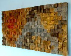 reclaimed wood wall large mosaic wood wood wall geometric large painting