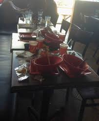 sit around grill table un bussed table we had to sit next to for 20 minutes picture of