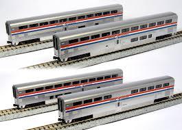 n scale amtrak superliners and hi level cars precision railroad 106 3517 n superliner amtrak