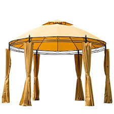 amazon com outsunny round outdoor patio canopy party gazebo with