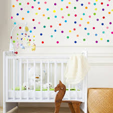 Fabric Wall Decals For Nursery 121 Mini 2 Inch Polka Dot Wall Decals Rainbow Colors Repositionable