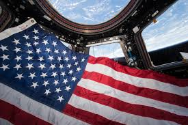 Picture Of The Us Flag U S Flag In The Cupola Nasa