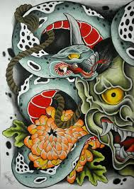 japanese demon mask tattoo design photo 1 2017 real photo