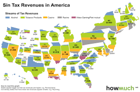 Illinois Casinos Map by Mapping Sin Tax Revenues Across U S