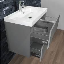 Vanity For Bathroom Modern Abella 40 Inch Modern Grey Finish Bathroom Vanity Set Solid Oak Wood