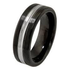 Mens Black Wedding Rings by Tallahassee Cobalt Men U0027s Wedding Rings