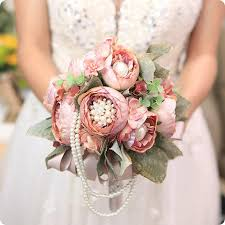 artificial flower bouquets vintage european style luxury change wedding artificial flowers