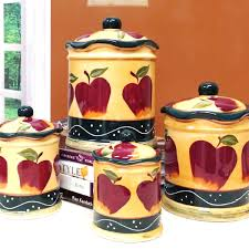 apple kitchen canisters apple kitchen decorative sets roselawnlutheran exceptional apples