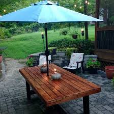 outdoor table with 2