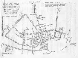 Map Of New Orleans Louisiana Historical Map New Orleans Streetcar Trackage Transit Maps