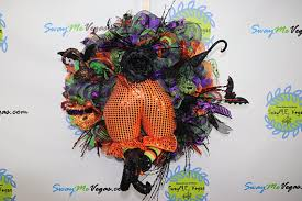 Flying Witch Decoration Wicked Witch Wreath Witch Bottom Wreath Halloween Witch Wreath