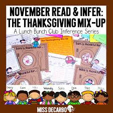 thanksgiving feast ideas for classroom thanksgiving literacy activities ideas and freebies miss decarbo