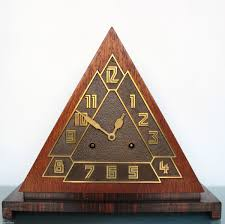 remarkable 1920 s or 30 s german pyramid deco mantle clock