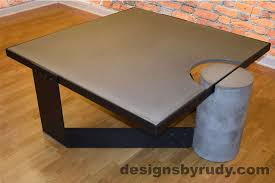 how to clean concrete table top gray concrete coffee table black coated steel clean cut dr30