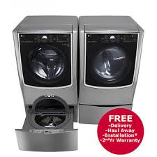 Front Load Washer With Pedestal Lg Front Load Steam Washer And Electric Dryer With Sidekick
