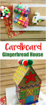 make your own cardboard gingerbread house puffy paint