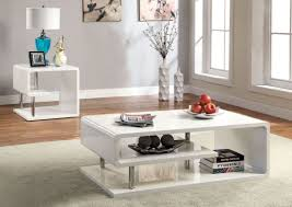 Contemporary White Coffee Table by Ninove I White High Gloss Coffee Table From Furniture Of America