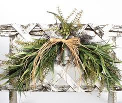 36 artificial twig and grass greenery swag with raffia bow