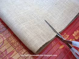 Linen Burlap Curtains My Thrift Store Addiction Refresh Your Home No Sew Burlap And