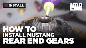 mustang rear end gear installation ford racing 8 8 ring u0026 pinion