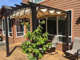Retractable Shade Pergola by Hampton Bay 9 Ft X 9 Ft Steel And Aluminum Arched Pergola With