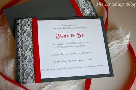diy bridal shower invitations diy lace and ribbon bridal shower invitation the lovebugs