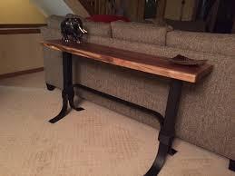 Walnut Sofa Table by Walnut Live Edge Sofa Table Ohio Hardwood Furniture