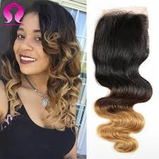 Sarahs Hair Extensions by Ombre Peruvian Virgin Hair Body Wave Closure 1 Piece 12 20inch