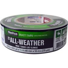 nashua tape 1 89 in x 60 yd 398 all weather hvac duct tape in