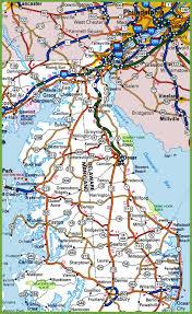 delaware road map usa delaware road map