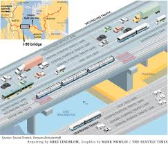 Seattle Light Rail Map Future by World U0027s First Light Rail On A Floating Bridge For I 90 Sound