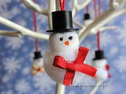 craft mini snowmen tree ornaments