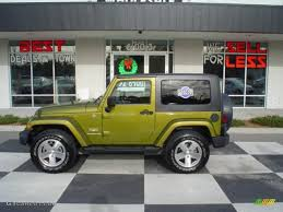2008 rescue green metallic jeep wrangler sahara 4x4 24264716