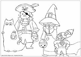 dressed halloween colouring