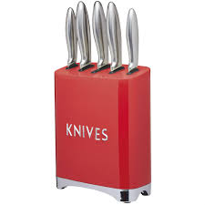 kitchencraft lovello retro 5 piece stainless steel knife set and
