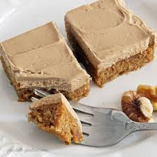 maple frosting sweet potato bars with maple frosting