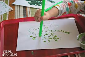 st patrick u0027s day straw art activity mess for less
