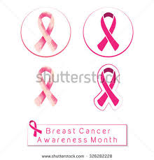 patterned ribbon breast cancer awareness month pink ribbon stock vector 326282228